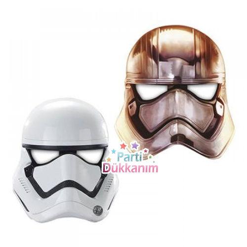 Star Wars The Force Kağıt Maske (6 adet)