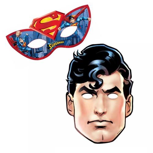 Superman Kağıt Maske 6 Adet Parti Dükkanım