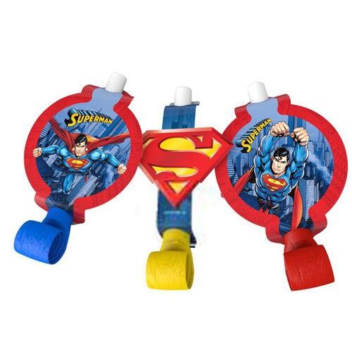 Superman Parti Düdüğü (6 Adet)