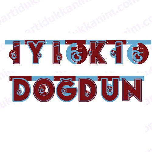 Trabzonspor İyiki Doğdun Yazısı (2 metre)
