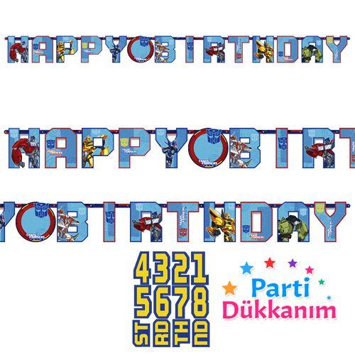 Transformers Happy Birthday Yazısı (1.6 m), fiyatı