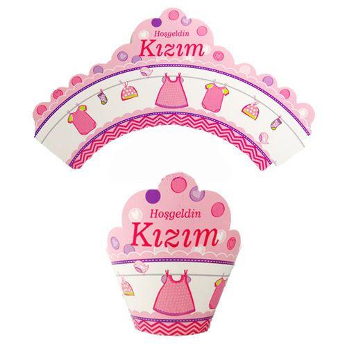Hoşgeldin Kızım Cupcake Süsü (10 Adet), fiyatı