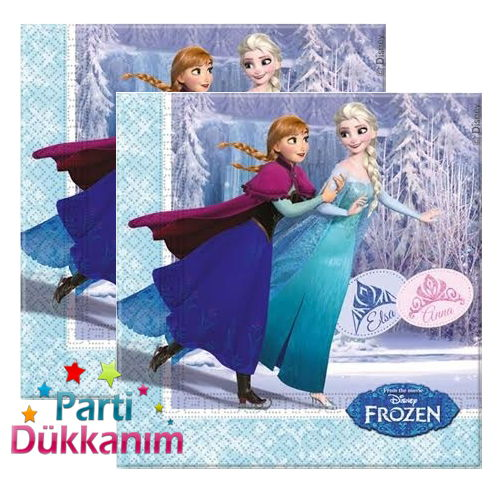 Frozen Ice Skating Peçete (20 Adet)