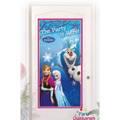 Frozen Kapı Banner 76X152 cm, fiyatı