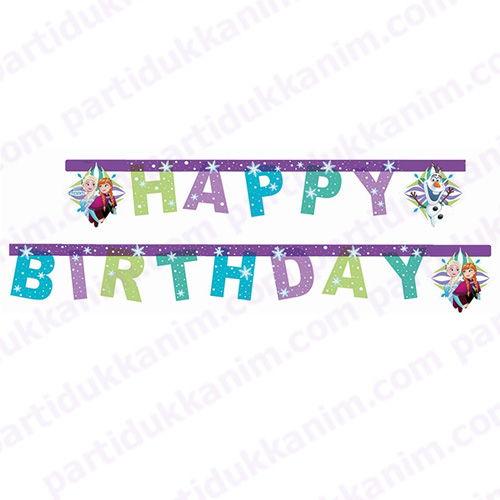 Frozenhappy birthday  yazısı