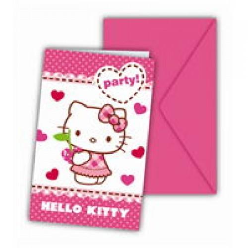 Hello Kitty Davetiye 6 Adet