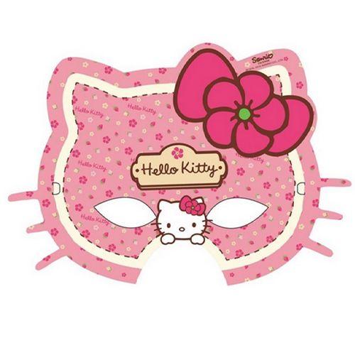 Hello Kitty Kağıt Maske (6 adet)