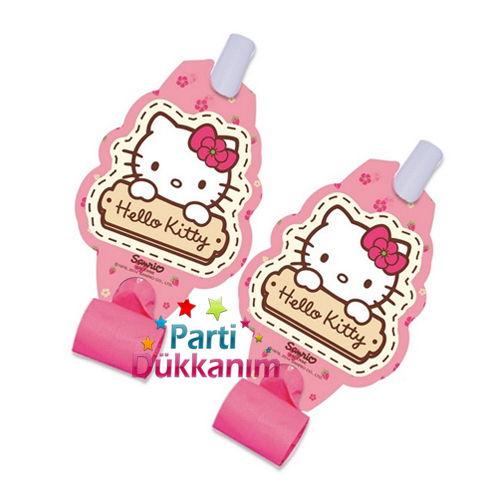 Hello Kitty Parti Düdüğü (6 Adet)