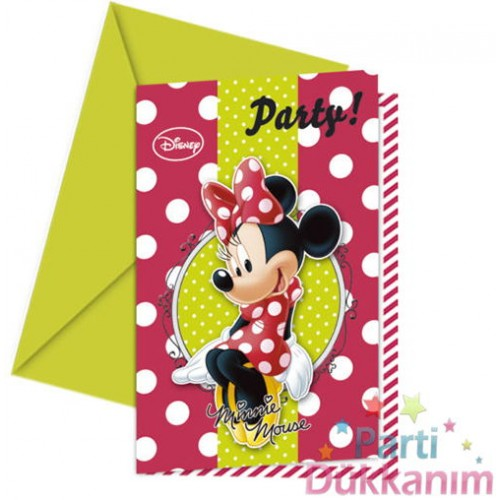 Minnie Mouse Davetiye Fashion (6 adet)