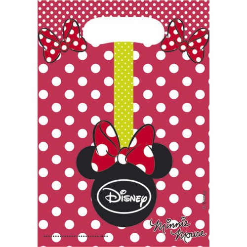Minnie Mouse Fashion Parti Poşeti (6 Adet)