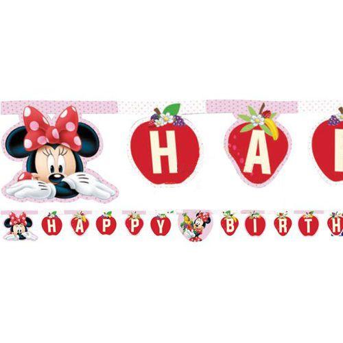 Minnie Mouse JAM Happy Birthday Yazısı (2 m.)
