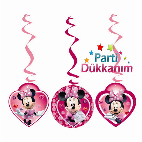 Minnie Mouse Asma Süs (3\'lü)