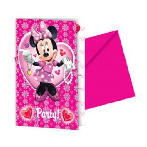 Minnie Mouse Davetiye (6 adet)