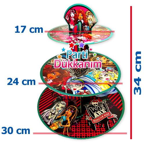 Monster High 3 Katlı Kek Standı, fiyatı