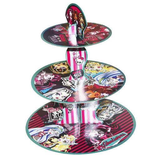 Monster High 3 Katlı Kek Standı