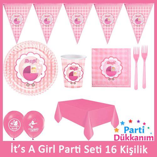 İts A Girl Parti Seti 16 Kişilik