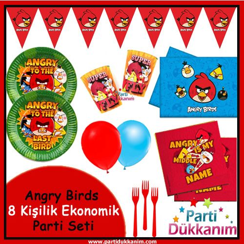 Angry Birds 8 Kişilik Süper Set