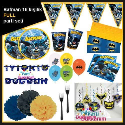 Batman 16 Kişilik Full Parti Seti