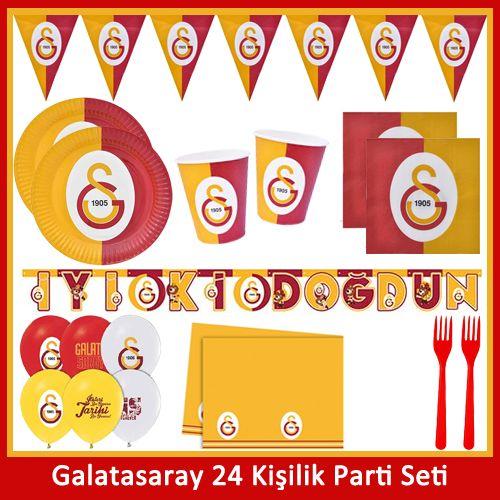 Galatasaray 24 Kişilik Ekonomik Full Parti Seti