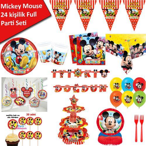 Mickey Mouse Full Ekonomik Parti Seti (24 Kişilik), fiyatı