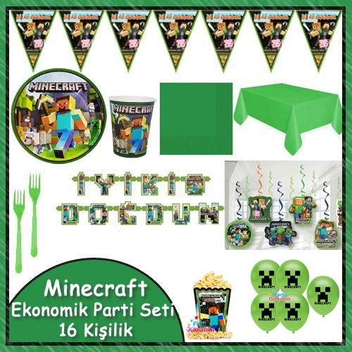Minecraft Ekonomik Parti Seti 16 Kişilik, fiyatı