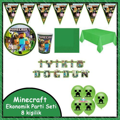 Minecraft Ekonomik Parti Seti 8 Kişilik, fiyatı