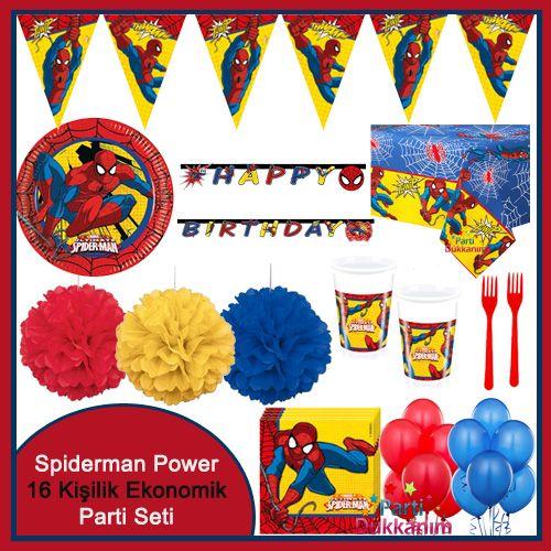 Spiderman Power Parti Seti (16 Kişilik)