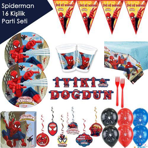 Spiderman Ultimate Ekonomik Parti Seti (16 Kişilik), fiyatı