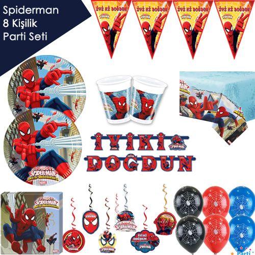 Spiderman Ultimate Ekonomik Parti Seti (8 Kişilik)