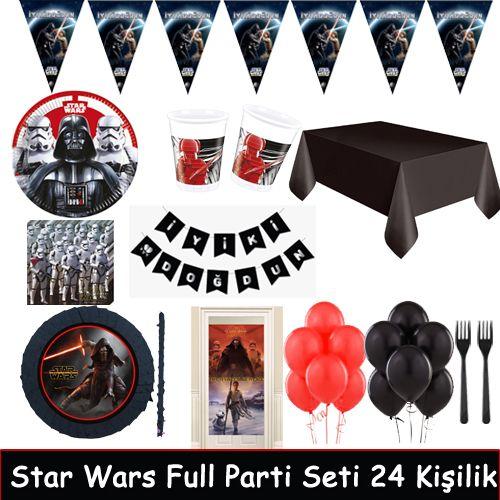Star Wars Full Parti Seti 24 Kişilik