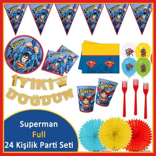 Superman 24 Kişilik Süper Parti Seti, fiyatı