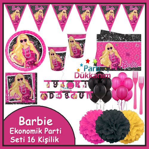 Barbie Ekonomik Parti Seti (16 Kişilik)