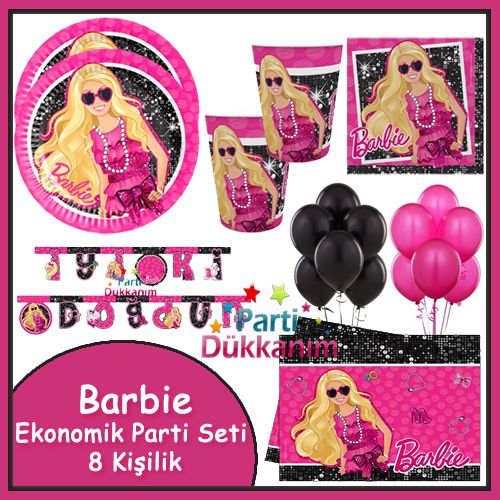 Barbie Ekonomik Parti Seti (8 Kişilik)