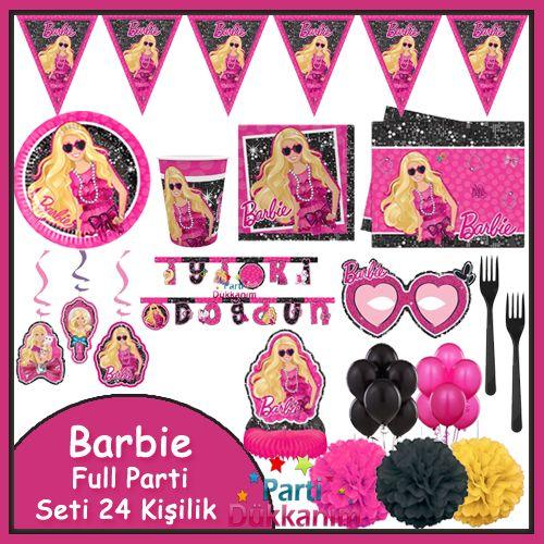 Barbie Full Parti Seti (24 Kişilik)