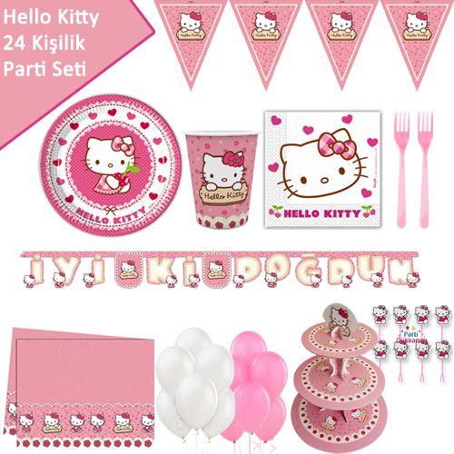 Hello Kitty Full Parti Seti (24 Kişilik), fiyatı
