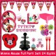 Minnie Mouse Jam Full Parti Seti (24 Kişilik), fiyatı