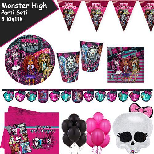 Monster High Ekonomik Parti Seti (8 Kişilik)