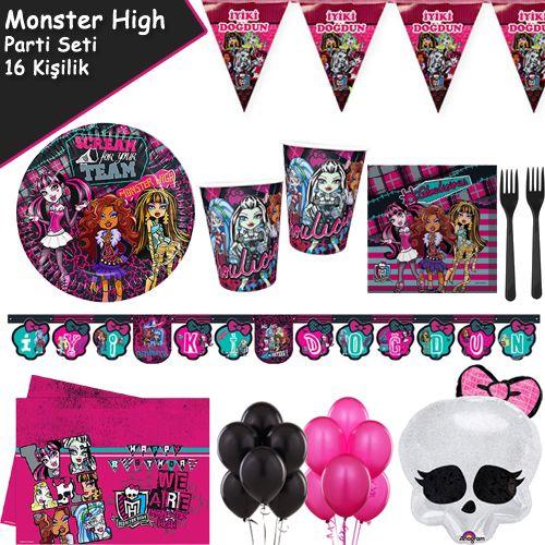Monster High Süper Parti Seti (16 Kişilik)
