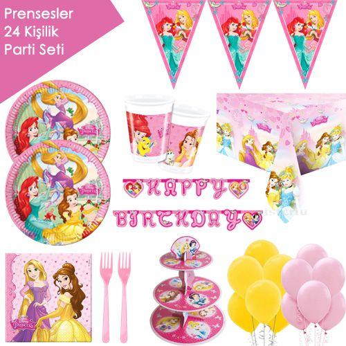 Prensesler Full Parti Seti (24 Kişilik)