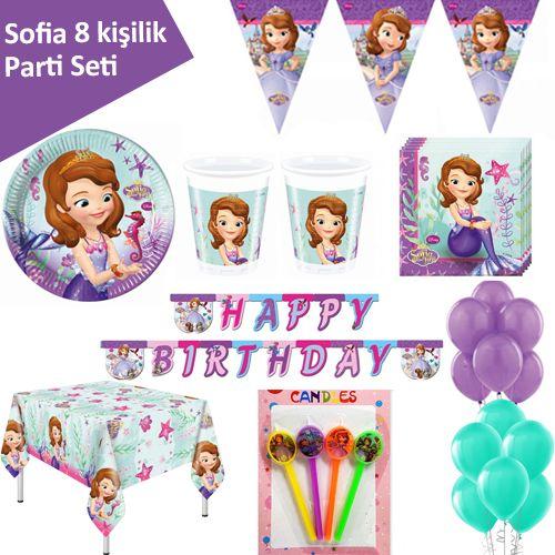 Prenses Sofia Ekonomik Parti Seti (8 Kişilik)