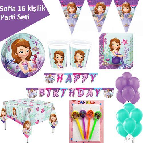 Prenses Sofia Ekonomik Parti Seti (16 Kişilik)