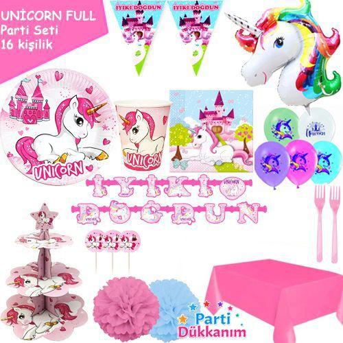 Unicorn 16 Kişilik FULL Parti Seti