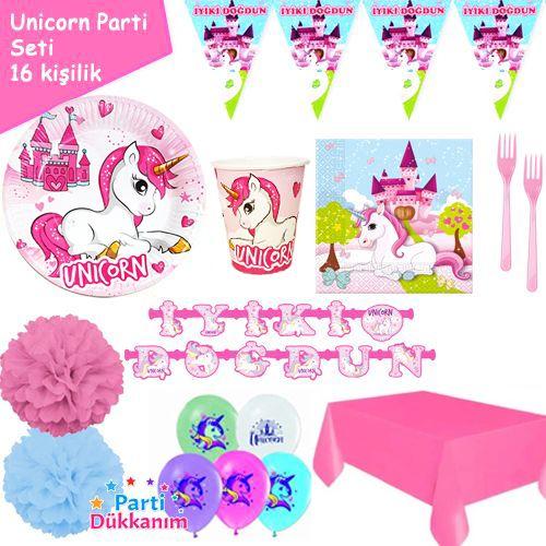 Unicorn 16 Kişilik Parti Seti