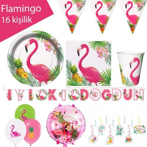 Flamingo Parti Seti 16 Kişilik, fiyatı