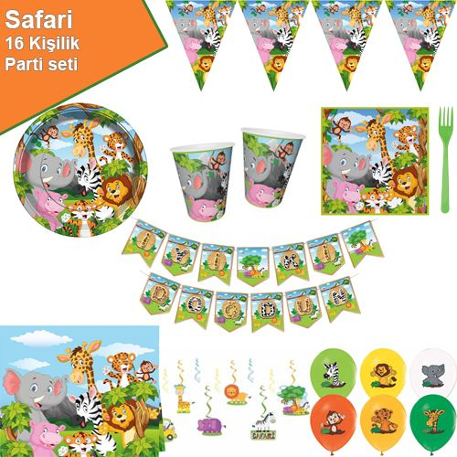 Safari Parti Seti 16 Kişilik, fiyatı