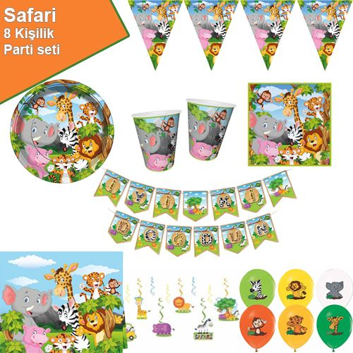 Safari Parti Seti 8 Kişilik