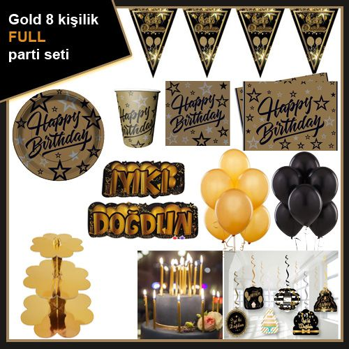 Gold 8 Kişilik Ekonomik Parti Seti