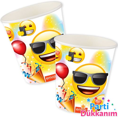 Emoji Doğum Günü Partisi Bardak (8 adet), fiyatı
