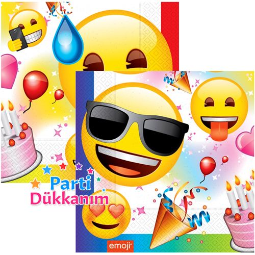 Emoji Doğum Günü Partisi Peçete (20 adet), fiyatı