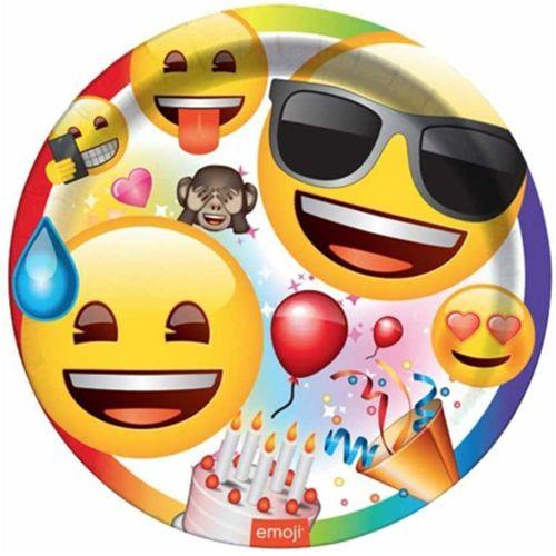 Emoji Doğum Günü Partisi Tabak (8 adet), fiyatı